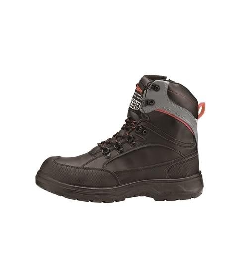 ジーベック 85205 樹脂先芯 トレッキングシューズ風ハイカットセフティシューズ 安全靴・セーフティーシューズ