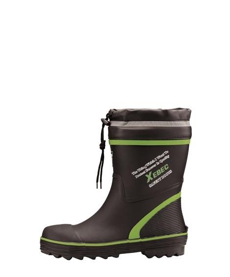ジーベック 85711 鋼製先芯 胴太設計ショート丈セフティ長靴 長靴