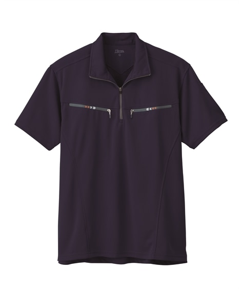 ジーベック 6160 半袖ジップアップシャツ 作業服