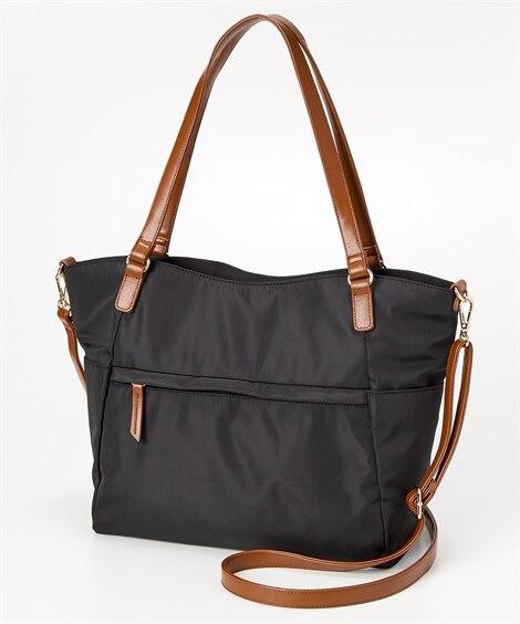 10ポケット 2WAY配色トートバッグ(A4対応)(肩ひも長め) トートバッグ・手提げバッグ, Bags