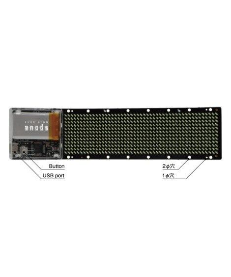 ウェアラブルLEDディスプレイ anode基板 DG1248W キャンプ用品