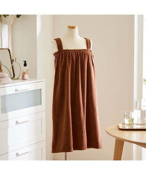 【綿100%】ふんわりバスドレス(ストラップタイプ) タオル, Towels(ニッセン、nissen)