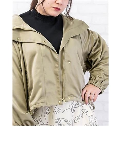 【大きいサイズ】 ラグランスリーブマウンテンパーカー コート...