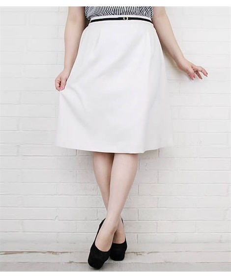 【大きいサイズ】 パイピングデザインスカート スカート, p...