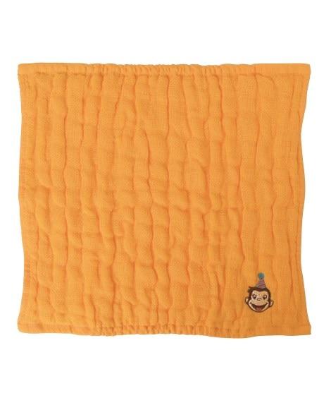 おさるのジョージ CG 5重ガーゼハンカチ YE 【ニコット Nicott】 ハンドタオル・タオルハンカチ, Towels(ニッセン、nissen)
