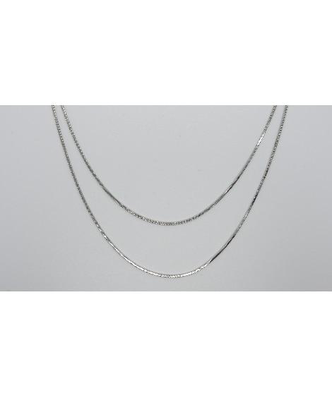 【milleblanc(ミルブラン)】メタルチェーンチョーカー ネックレス(ペンダント)