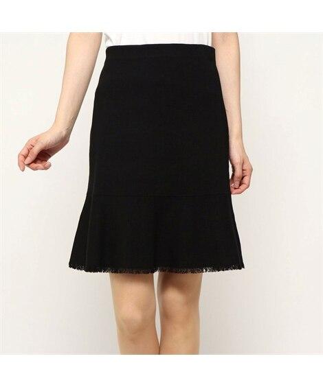 フリンジニットフレアスカート Rename (ロング丈・マキシ丈スカート)Skirts