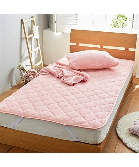 綿100%パイル地敷パッド 敷きパッド・ベッドパッド