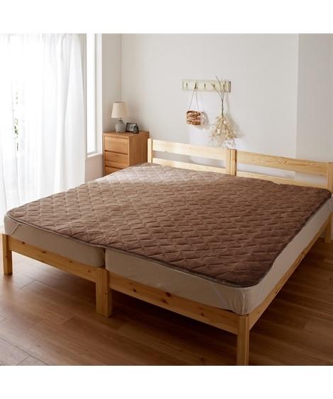 綿100%パイル地敷パッド 敷きパッド・ベッドパッドの写真