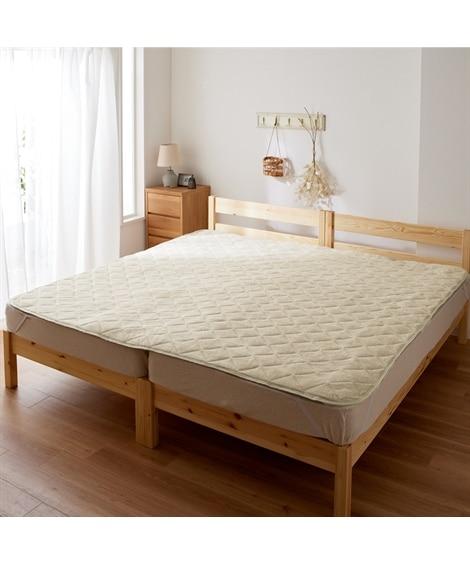 綿100%パイル地敷パッド 敷きパッド・ベッドパッド...