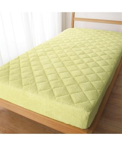綿100%パイル地 敷布団にも使えるボックスシーツ型敷パッド...