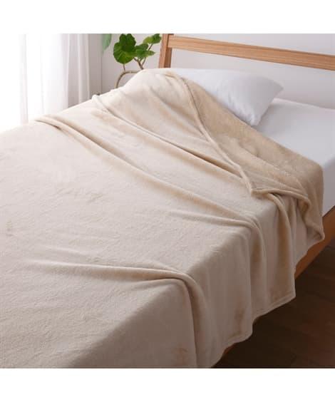 ウォームコア 吸湿発熱かるfuwaフランネル毛布...