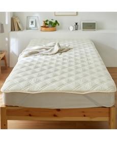 羊毛混防ダニ。抗菌防臭。吸汗速乾汗取りベッドパッド 敷きパッド・ベッドパッドの商品画像