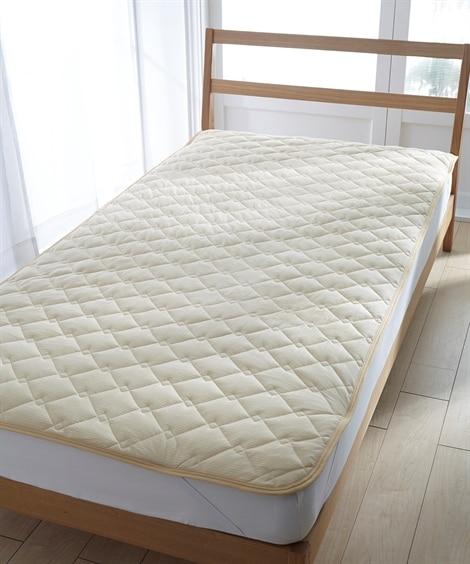 吸汗速乾ドライニット敷パッド 敷きパッド・ベッドパッド