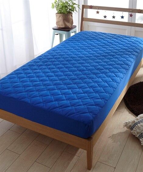 吸汗速乾ドライニット 敷布団にも使えるボックスシーツ型敷パッド 敷きパッド・ベッドパッドと題した写真