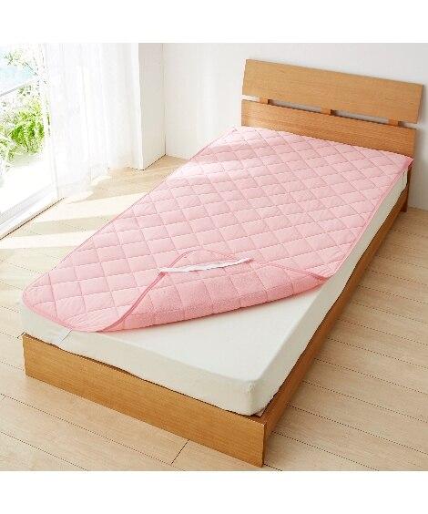接触冷感×吸汗速乾タオル地リバーシブル敷パッド 敷きパッド・ベッドパッドの写真