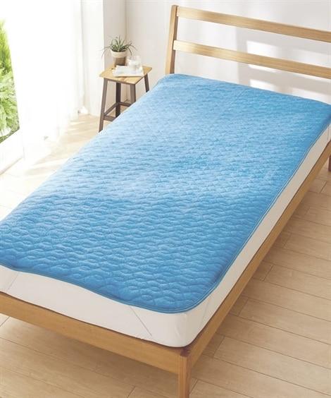 ひんやりとろみが気持ちいいレーヨン100%タオル地 敷パッド 敷きパッド・ベッドパッド