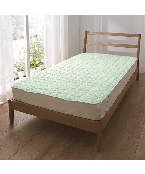 綿100%天然素材の接触冷感 敷パッド 敷きパッド・ベッドパ...