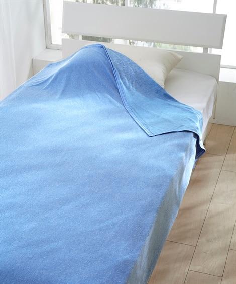超冷感!接触冷感×吸汗速乾 タオル地リバーシブルクールケット タオルケット・肌掛け布団・キルトケットと題した写真