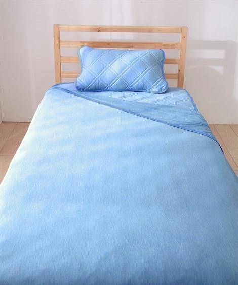 超冷感!接触冷感×吸汗速乾の寝具セット 敷きパッド・ベッドパ...