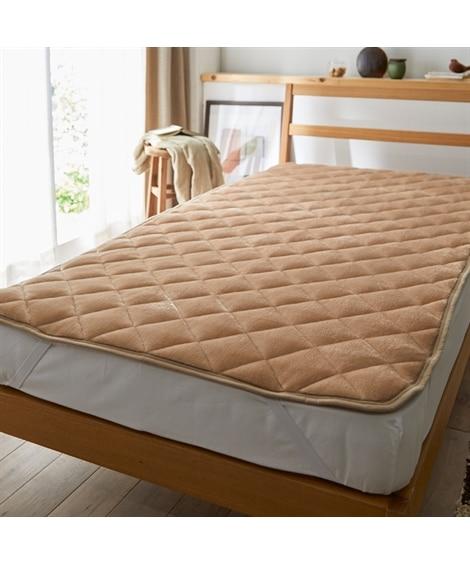 【ボリュームアップ】ウォームコア 吸湿発熱×蓄熱保温わた あったかフランネル中わたボリューム敷パッド 敷きパッド・ベッドパッドの写真