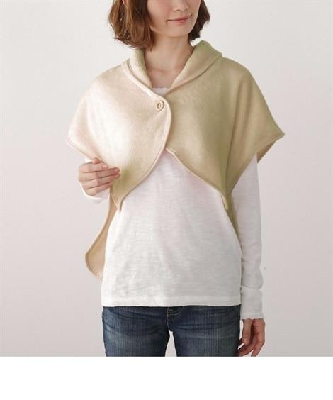 ウォームコア 吸湿発熱かるfuwaフランネル ポンチョ毛布 ...