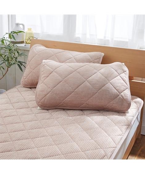 接触冷感×綿混タオル地吸汗速乾リバーシブル枕パッド同色2枚組...