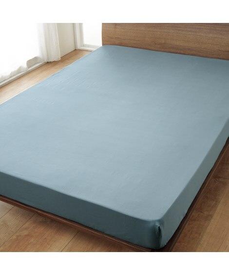 綿100%サテン織りベッドシーツ(マットレス用)...