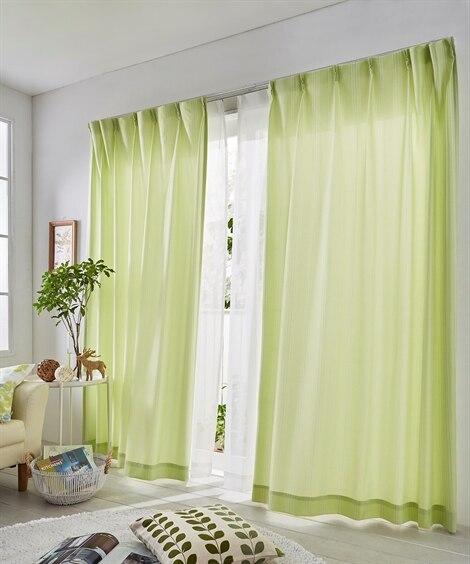 ストライプ調カーテン&レースセット カーテン&レースセット, Curtains, sheer curtains, net curtains(ニッセン、nissen)