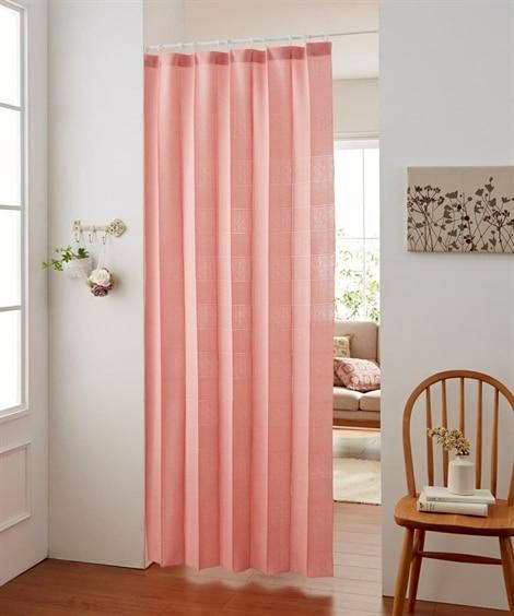 パタパタたためて幅丈調節出来る2Way間仕切りカーテン のれ...