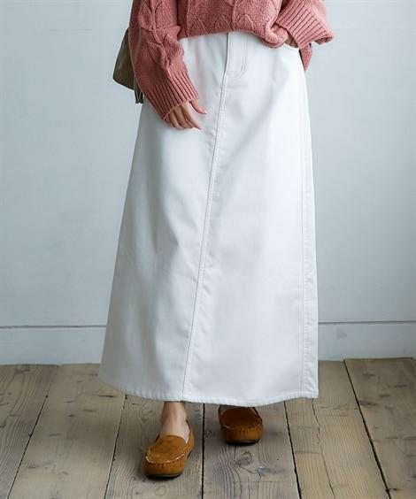 裏フリースストレッチロング丈スカート
