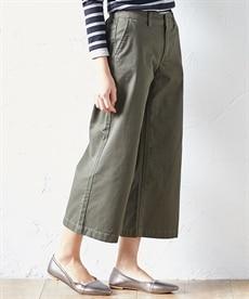 <ニッセン> ゆるフィットパンツ(股下70cm) (レディースパンツ)pants 23