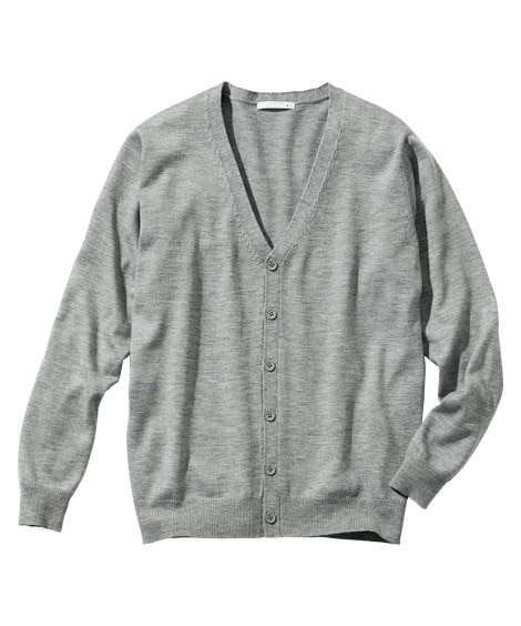洗濯機で洗える薄手ニットカーディガン (ニット・セーター)Sweater,