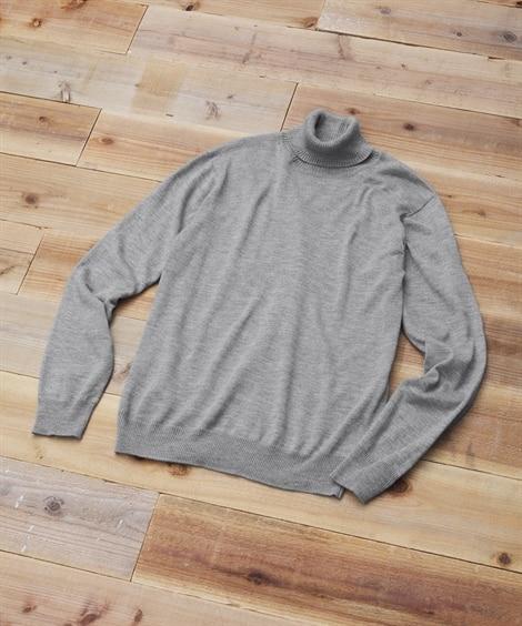 洗濯機で洗える薄手タートルネックセーター (ニット・セーター)Sweater,