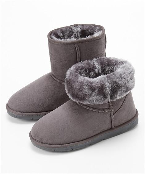 ムートン調ブーツ(ワイズ4E) ブーツ・ブーティ