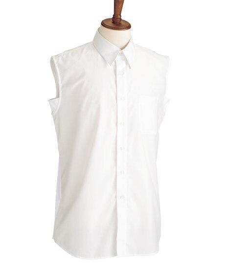 あたかもメンズシャツ(袖なしタイプ) (ワイシャツ)Shir...