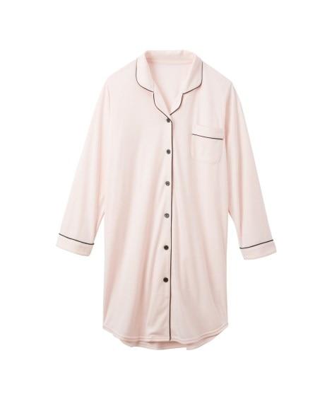 パイピングシャツパジャマワンピース (パジャマ・ルームウェア...