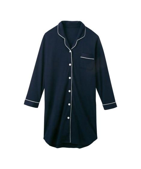 【WEB限定】パイピングシャツパジャマワンピース (パジャマ...