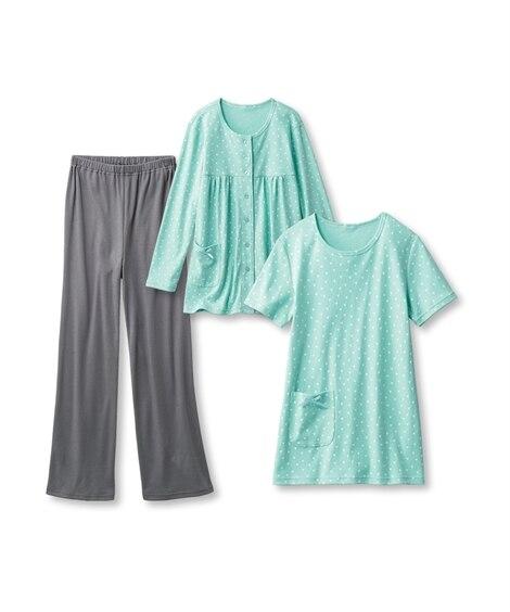 綿混リラックスパジャマ3点セット (パジャマ・ルームウェア)Pajamas