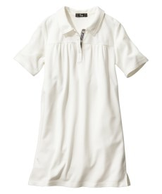 <ニッセン> 吸汗速乾。UVカット半袖ポロシャツ (大きいサイズレディース)plus size 1