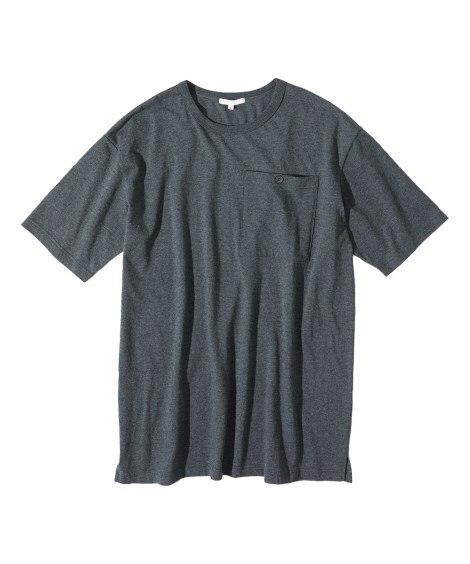オーバーサイズ綿100%ロング丈Tシャツ Tシャツ・カットソー, T-shirts,