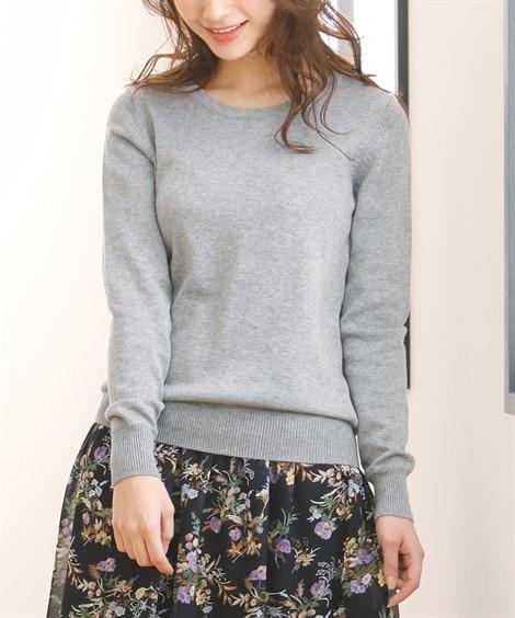 【小さいサイズ】 小さいサイズ 綿混クルーネックセーター 【...