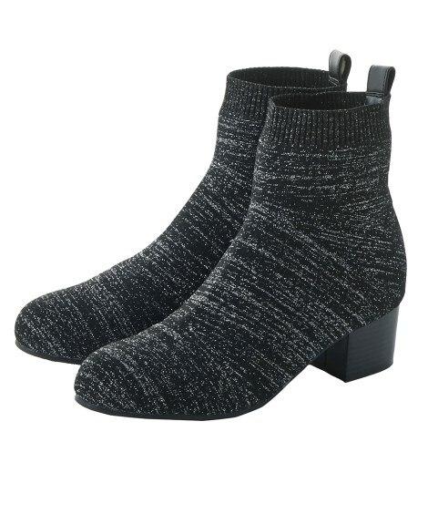 ストレッチショートブーツ(低反発中敷)(ワイズ4E) ブーツ...