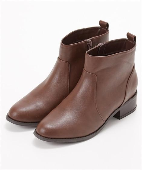 シンプルショートブーツ(低反発中敷)(ワイズ4E) ブーツ・...