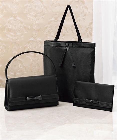 リボン付フォーマルバッグ3点セット フォーマルバッグ, Bags