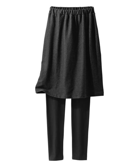 デニム調スカート付き12分丈レギンス (レギンス・スパッツ・...