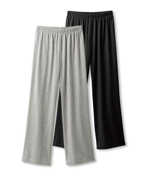 綿混天竺ルームパンツ2枚組 女性パジャマ・ルームウェア・ボト...