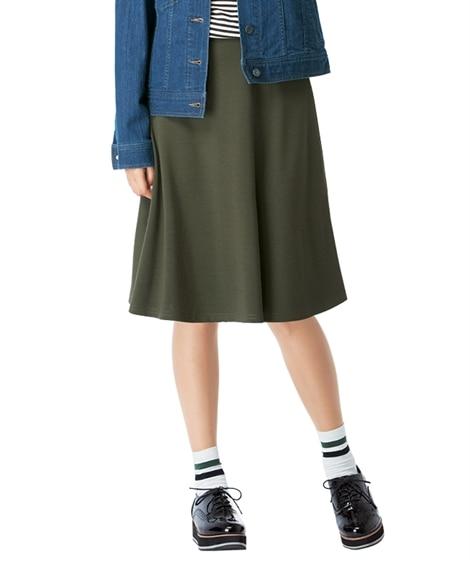 カットソー無地フレアスカート(ひざ中丈) 【大きいサイズレデ...