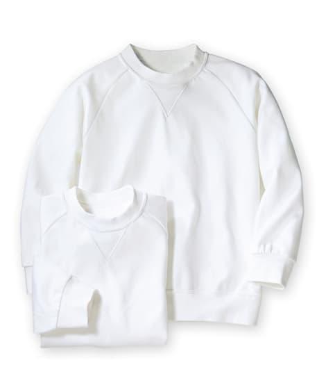 【子供服】 【ゆったりサイズ】丸首。長袖 体操服シャツ2枚組...