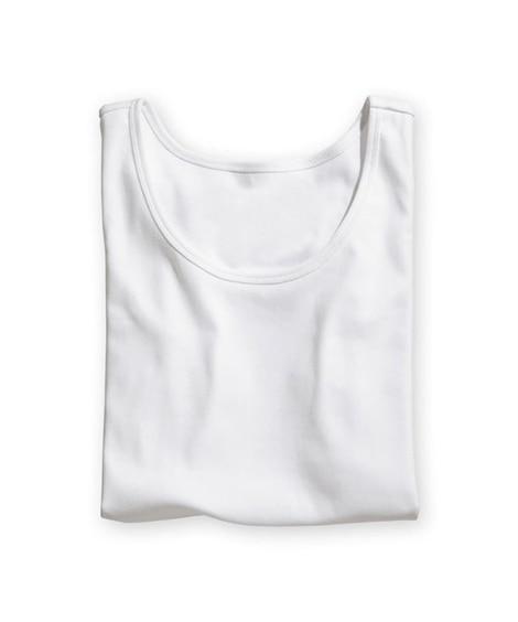 UVカット綿100%フライス素材タンクトップ (タンクトップ...